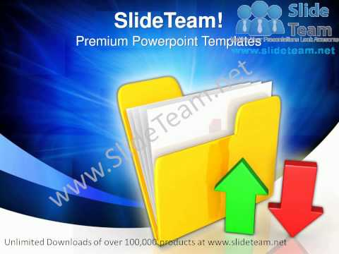 Upload Download Folder Computer PowerPoint Templates ppt Themes 0912 Slides Backgrounds