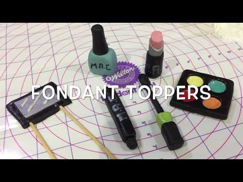 EASY FONDANT COSMETICS TOPPERS FOR CAKES/CUPCAKES