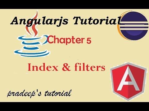 Index in angularjs | filters in angularJS | Angularjs tutorials for beginners