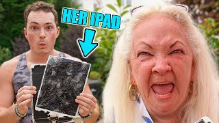 Smashing Grandmoms iPad, Then Surprising Her With iPad Pro!