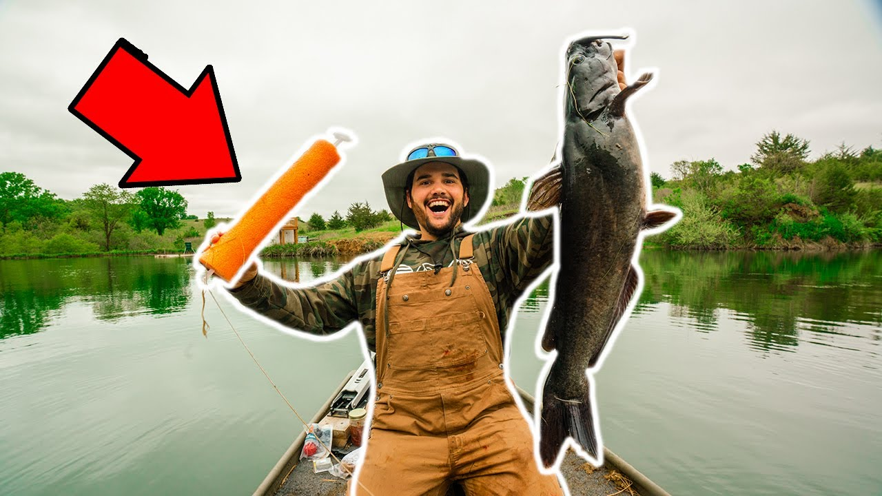 JUGLINE Catfishing in My BACKYARD POND!!! (Catch Clean Cook)