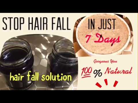 How to stop hair fall in just 7 days- hair fall solution and hair fall treatment