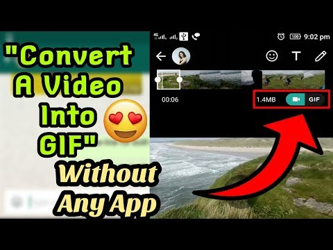How To Send GIF In Whatsapp | How To Change/Convert A Video To GIF In Whatsapp | GIF Maker