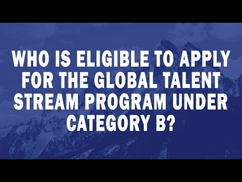 Who is eligible to apply for the Global Talent Stream program under Category B?