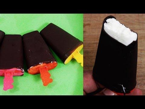 Choco Bar Ice Cream Recipe - Beat the Heat   Without Ice Cream Maker - Easy, Eggless