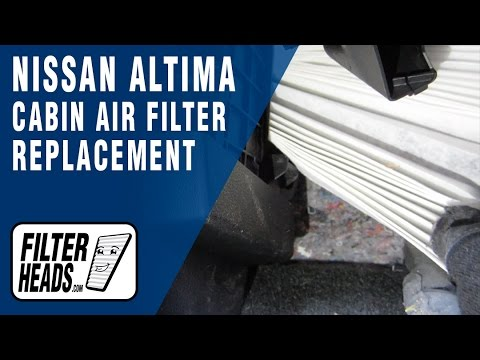 How to Replace Cabin Air Filter Nissan Altima 2013-2016