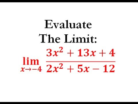 Evaluating Limits by Factoring (Calculus) - Worked Example #4