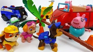 Paw Patrol On a Roll~! Help Peppa Pig Family Paw Patrol Lookout Playset