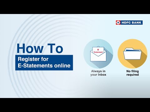 How to register for e - statements online