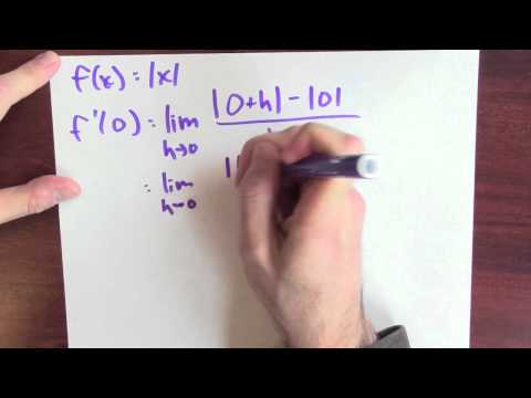 Why is the absolute value function not differentiable? - Week 3 - Lecture 3 - Mooculus