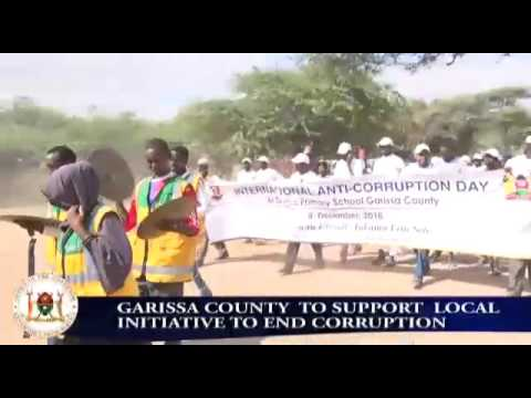 County to support local initiative to curb corruption.