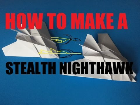 How To Make A Paper stealth nighthawk