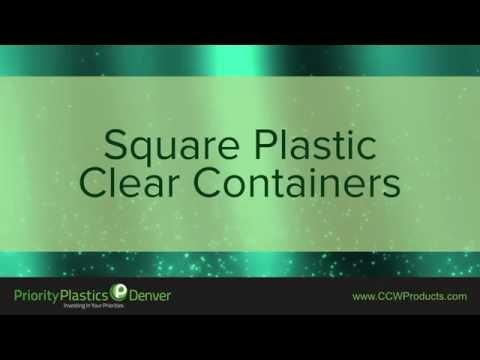 Square Plastic Clear Containers - Clear Plastic Square Containers
