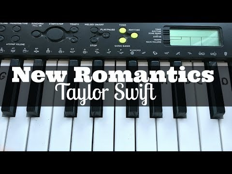 New Romantics - Taylor Swift | Easy Keyboard Tutorial With Notes (Right Hand)