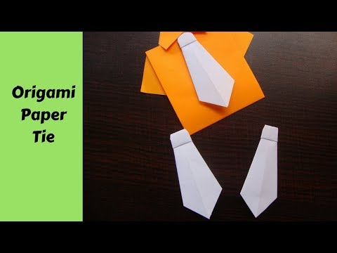 Origami tie. how to make origami tie. origami paper craft for kids.