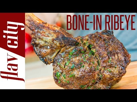 How To Cook The Perfect Ribeye Steak - FlavCity with Bobby