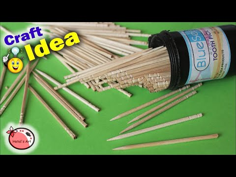 Best Craft Idea Out Of Tooth Picks  || How to Make Photo Frame at Home || DIY Room Decor Idea 2018