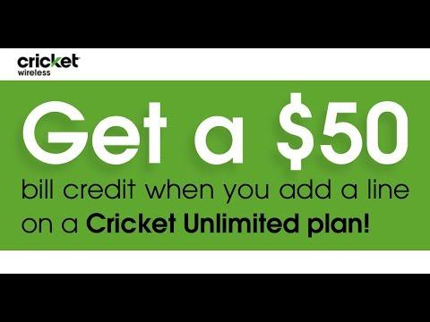 Cricket Wireless - Get A $50 BILL CREDIT When You Add An Unlimited Plan!