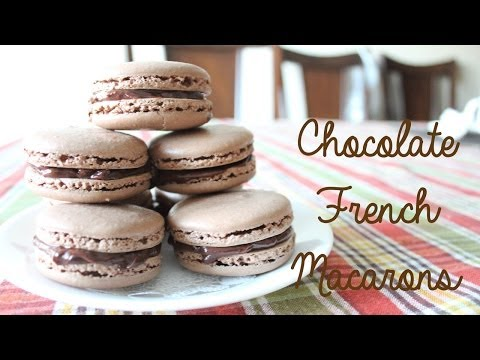 Chocolate French Macarons Recipe | sweetco0kiepie