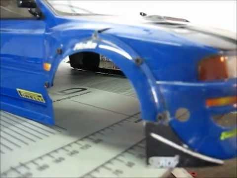 Custom RC Subaru WRC Wide Body rebuilt