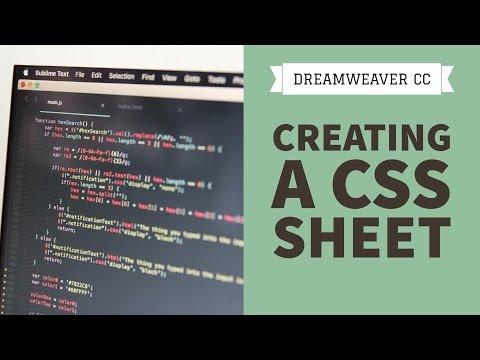 Creating a CSS sheet in Dreamweaver CC [16/34]