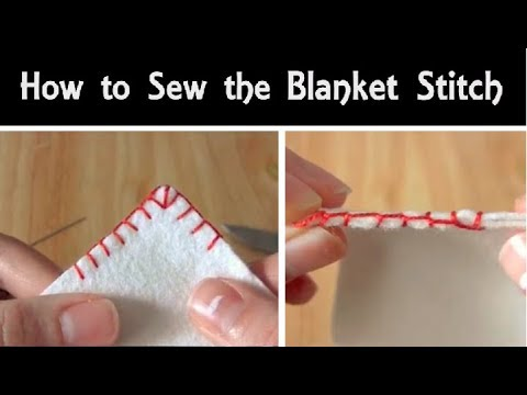 How to Sew: The Blanket Stitch | Hand Sewing Tutorial for Beginners | Corner Stitching