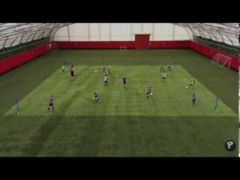 Soccer Coaching: Forward Runs Technical Warm Up