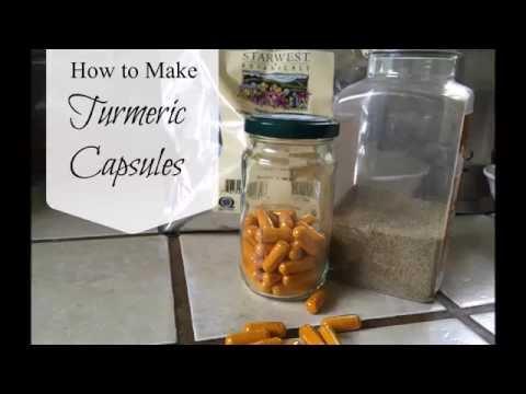 How to Make Turmeric Capsules