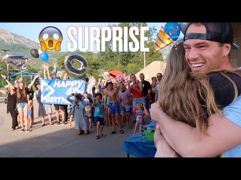 WIFE RENTS OUT WATER PARK FOR INSANE SURPRISE 40TH BIRTHDAY PARTY | HUSBAND STUNNED!