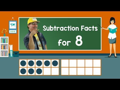 Practice Our Subtraction Facts for 8 | Subtraction Song | Math Song for Kids | Jack Hartmann