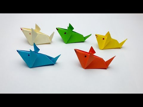 How to make a paper Mouse or Rat? (3D Origami Animals Instructions)