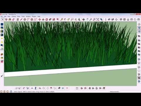 How To Create realistic Grass in sketchup
