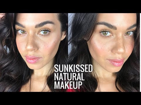 Sunkissed Natural Makeup with Faux Freckles | No-Makeup Makeup for Summer