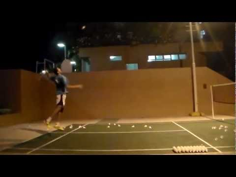 outdoor badminton training