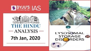 'The Hindu' Analysis for 7th Jan, 2020. (Current Affairs for UPSC/IAS)