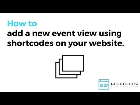 Displaying Events Using Shortcodes in Modern Events Calendar