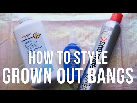 How To Style Grown Out Bangs || The Savvy Beauty