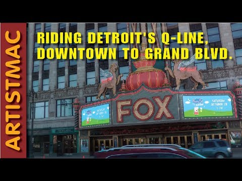 Riding the Detroit Q Line Light Rail, Downtown to Grand Blvd.