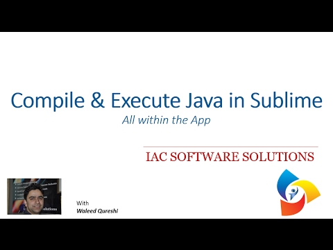Compile and Execute your Java Programs within Sublime Text 3
