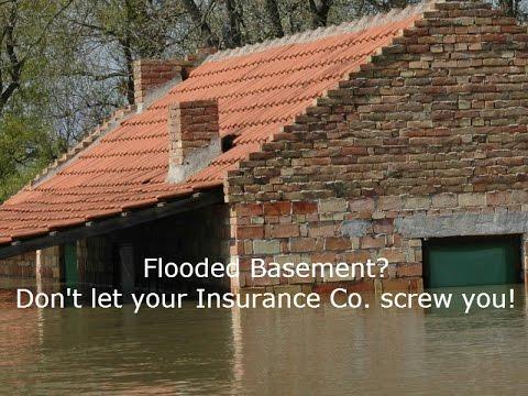 How do I handle a water damage or flood insurance claim