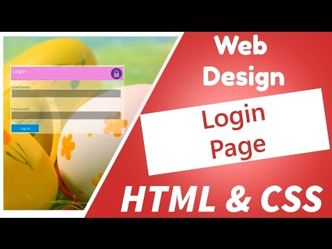06 - Web Design - Create a cool transparent login page for your website using notepad,  html and css