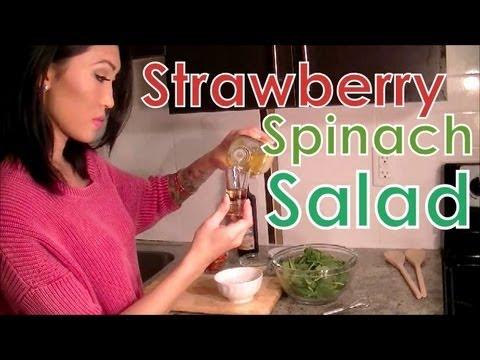 Healthy Strawberry Spinach Salad