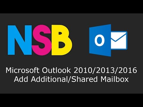 Microsoft Outlook 2010/2013/2016 - Add Additional/Shared Mailbox
