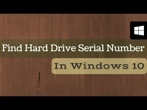 How to Find Hard Drive Serial Number in Windows 10