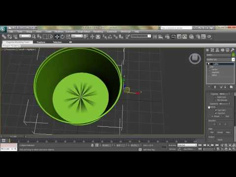 3ds Max Modeling Tutorial: How to Model Flower Pot using Line Tool and Lathe Modify