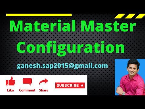 SAP Material Master Configuration video by Ganesh Padala