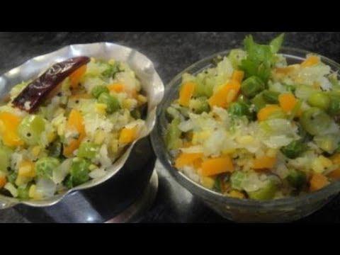 Kalyana Veetu  Colourful Poriyal In Tamil   Multi Veg Poriyal In Tamil   Steamed Veg Poriyal   Gowri