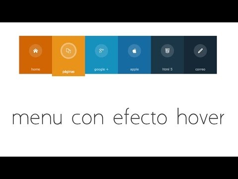 tutorial html 5 y css3 | crear menu horizontal con efecto hover