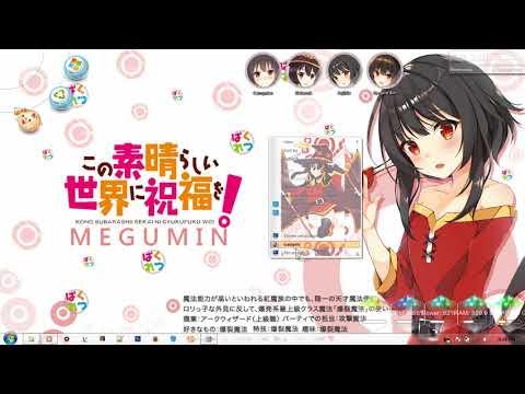 Windows 7 Theme Megumin KonoSuba!