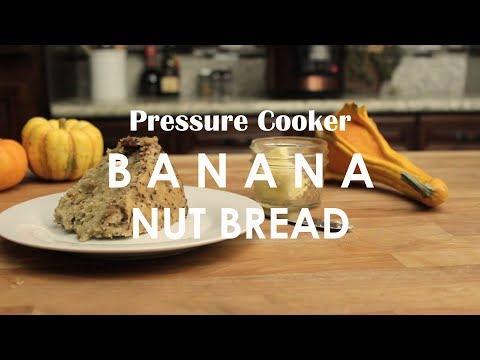 Pressure Cooker Soft Banana Nut Bread